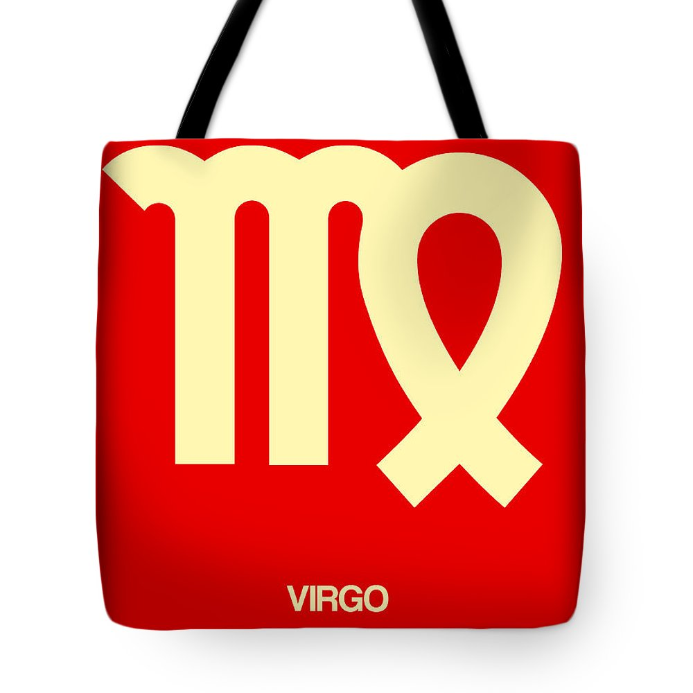 Tote Bag featuring the digital art Virgo Zodiac Sign Yellow by Naxart Studio