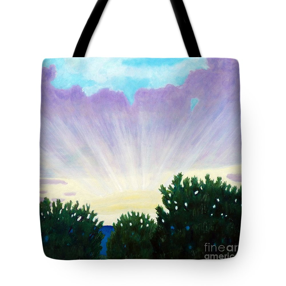Skyscape Tote Bag featuring the painting Visionary Sky by Brian Commerford