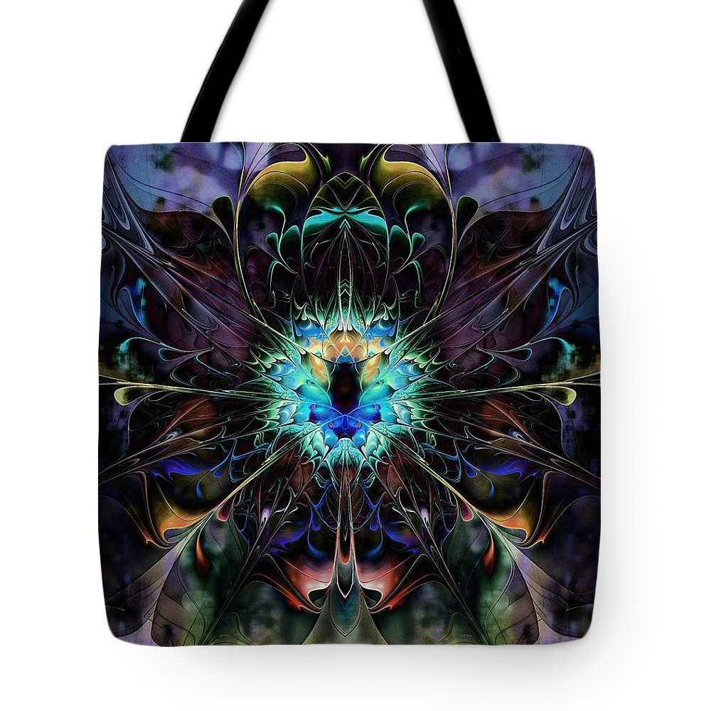 Digital Art Tote Bag featuring the digital art Vivacious by Amanda Moore