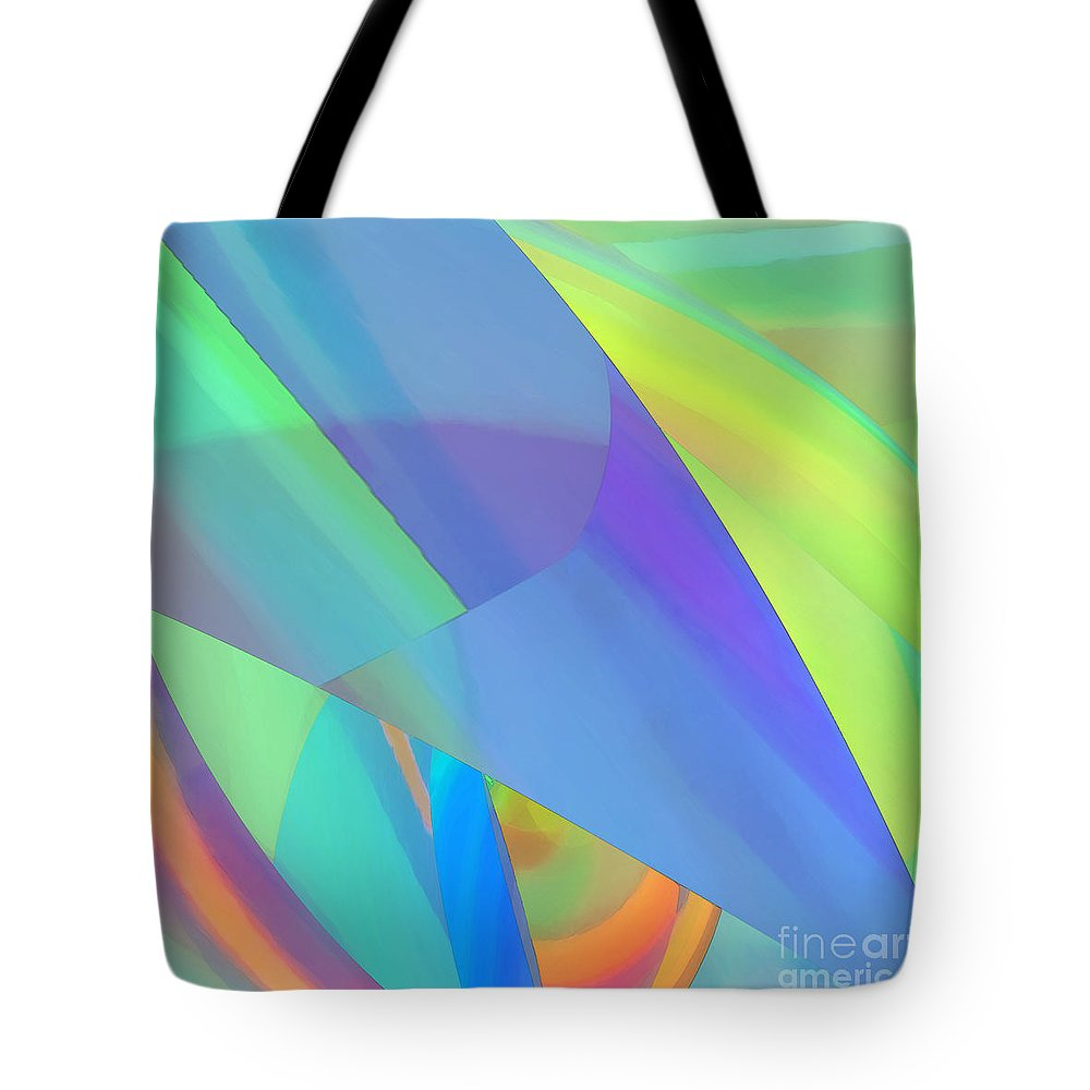 Abstract Tote Bag featuring the digital art Vivacity by ME Kozdron
