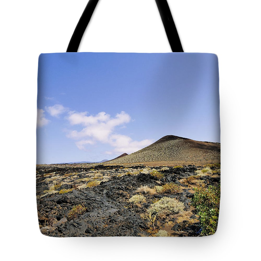 Volcano Tote Bag featuring the photograph Volcanic Landscape by Karol Kozlowski