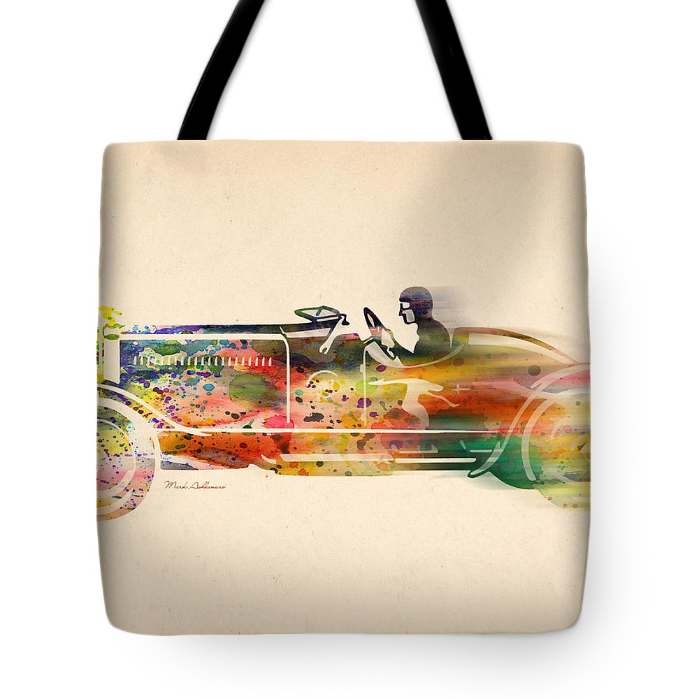 Car Tote Bag featuring the digital art Volkswagen by Mark Ashkenazi