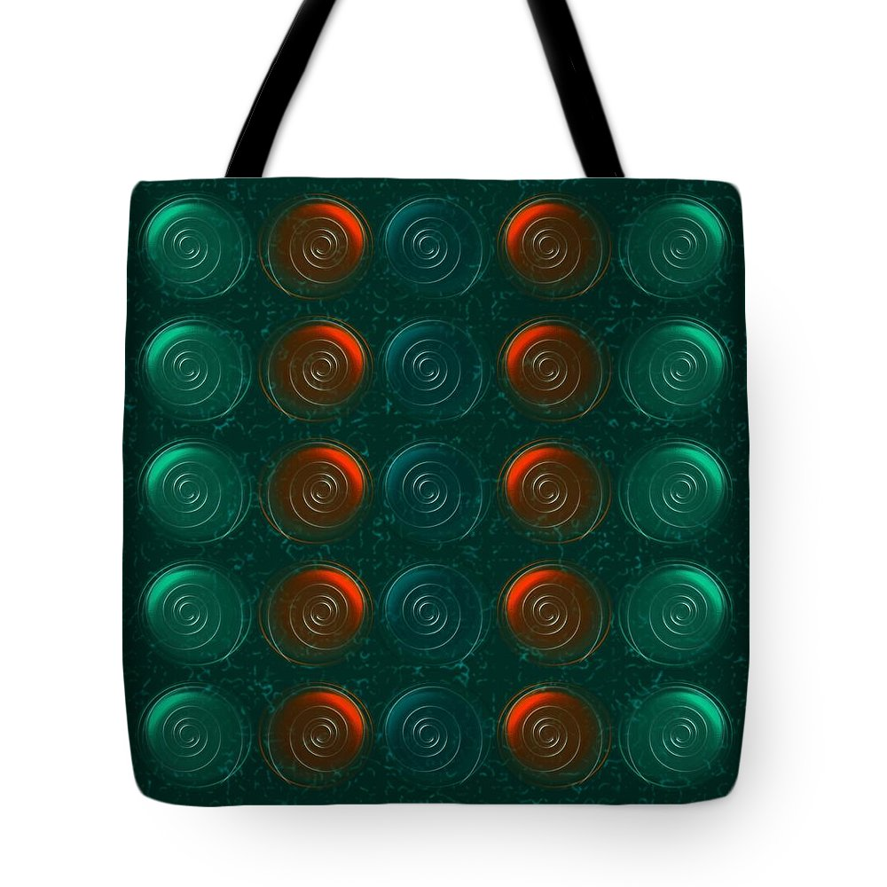 Abstract Tote Bag featuring the digital art Vortices by Anastasiya Malakhova