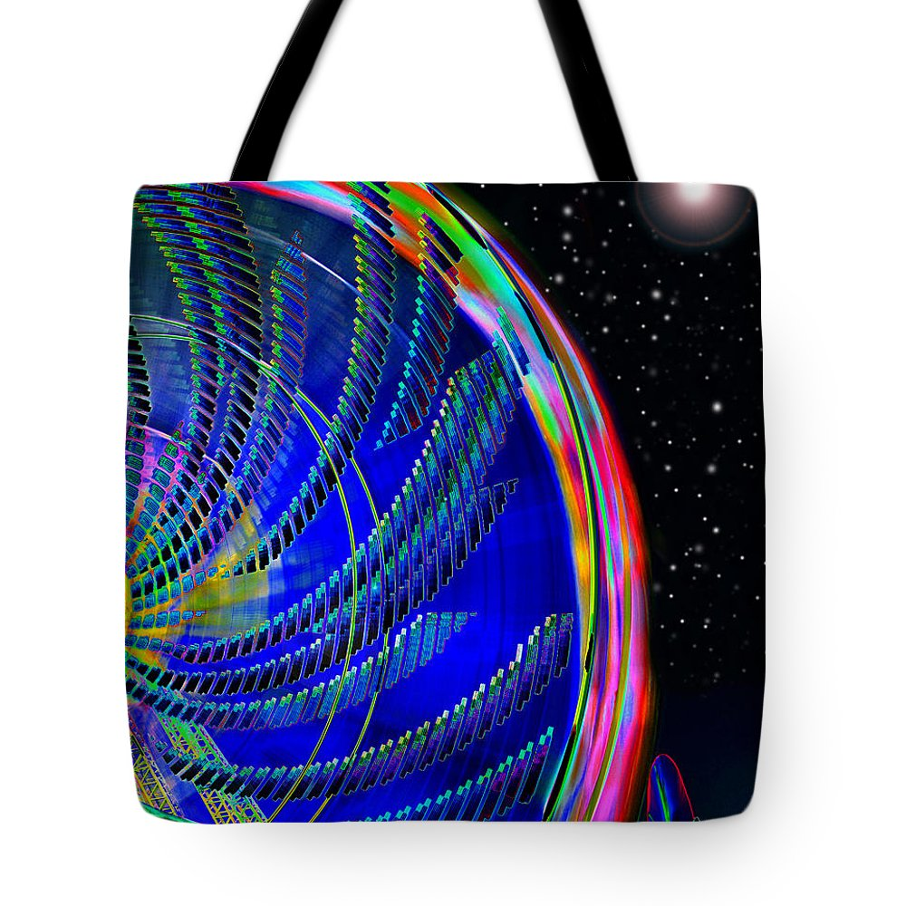 Fun On Planet X Tote Bag featuring the painting Fun On Planet X by David Lee Thompson