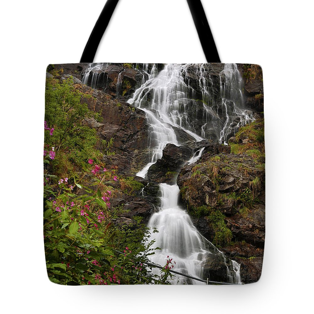 Water Tote Bag featuring the photograph W A T E R F A L L . O F . T R I B E R G by Thomas Herzog