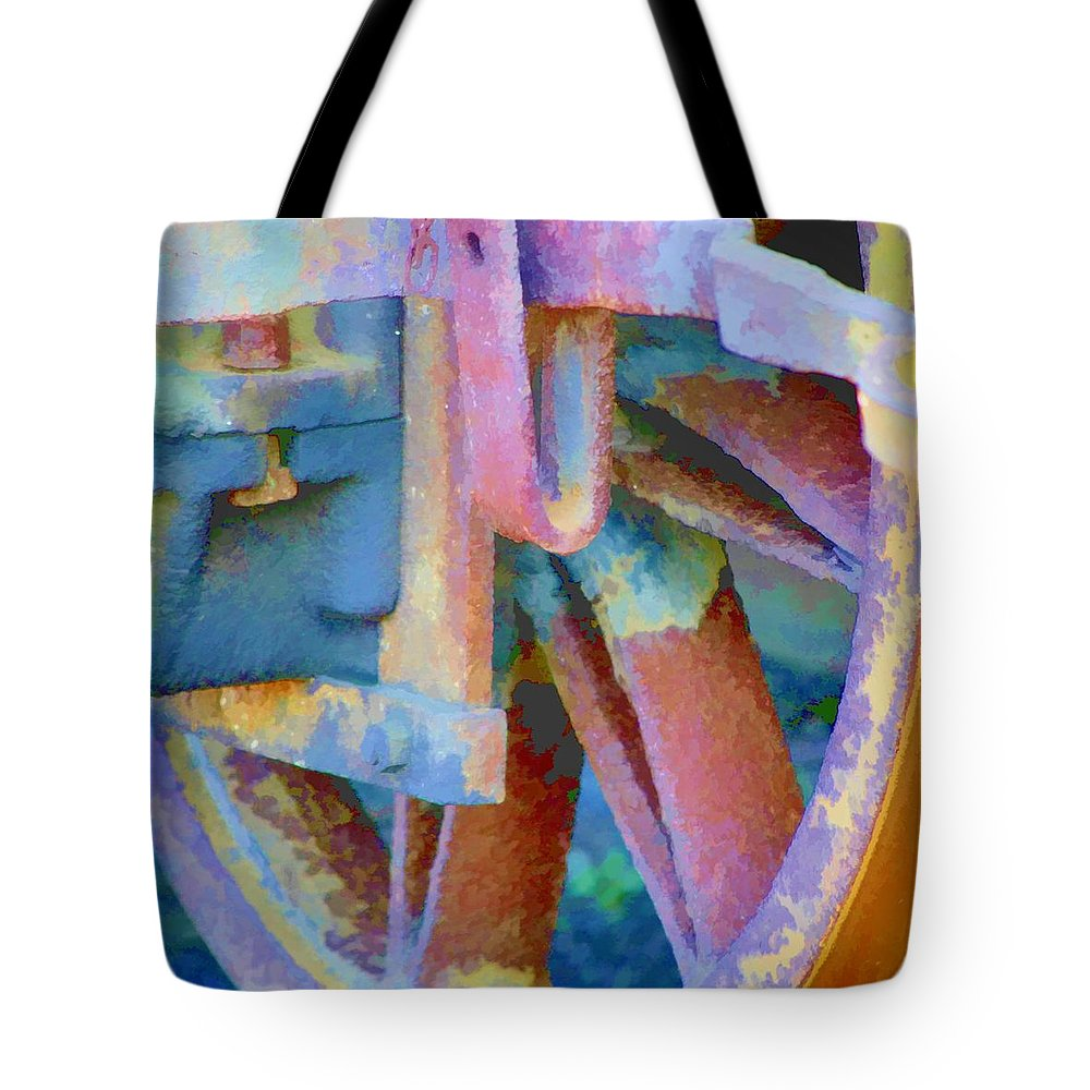 Freight Tote Bag featuring the photograph Wagon Brake by John Lynch