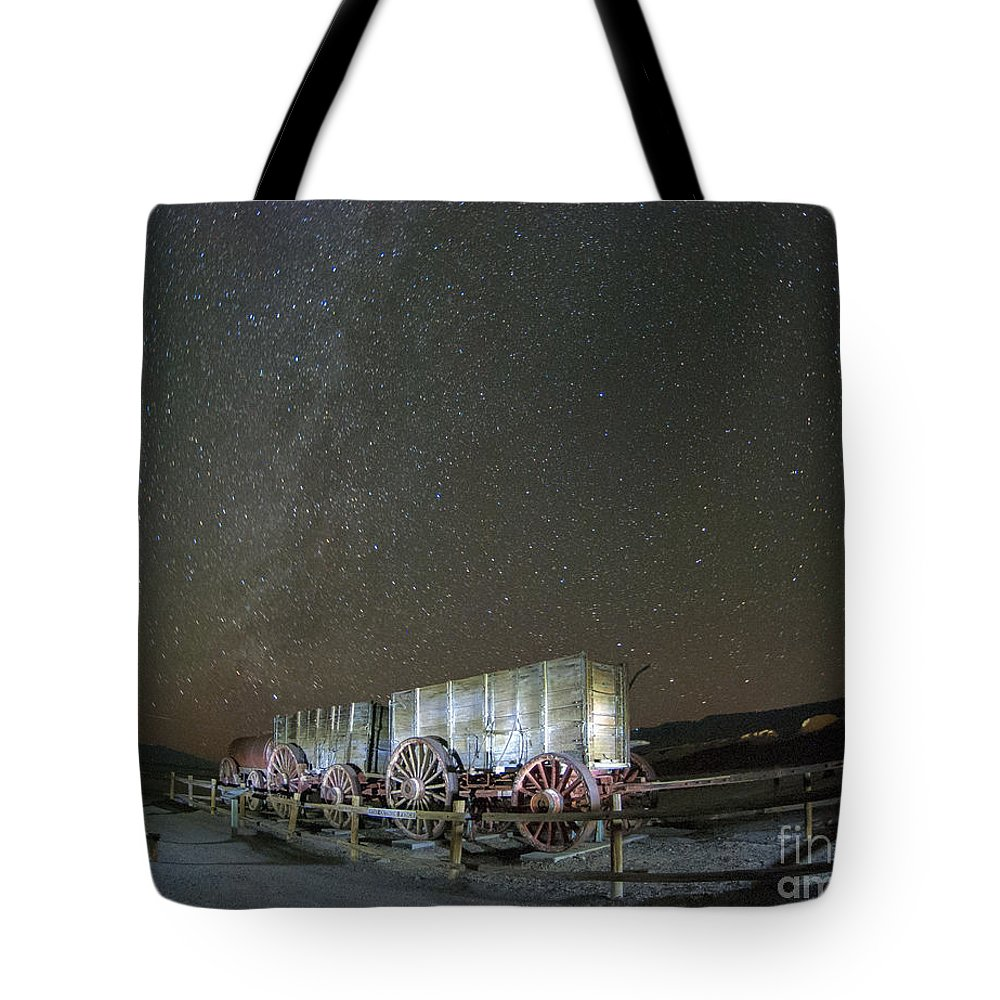 America Tote Bag featuring the photograph Wagon Train Under Night Sky by Juli Scalzi