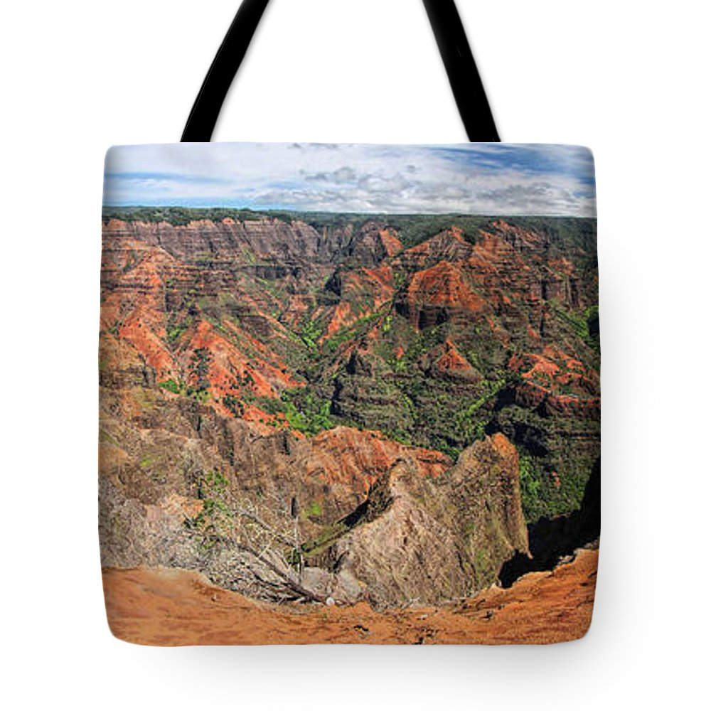 Waimea Canyon Tote Bag featuring the photograph Waimea Canyon by C H Apperson