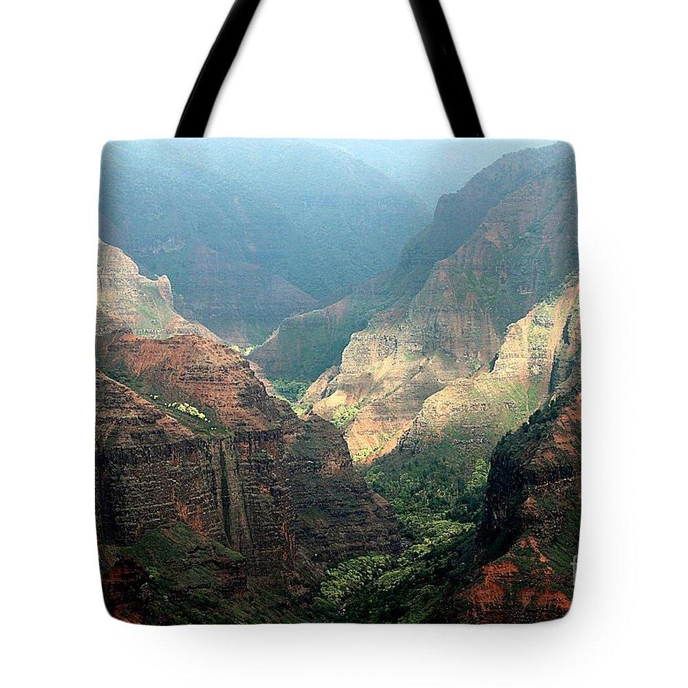 Waimea Canyon State Park Tote Bag featuring the photograph Waimea Canyon by Elizabeth Winter