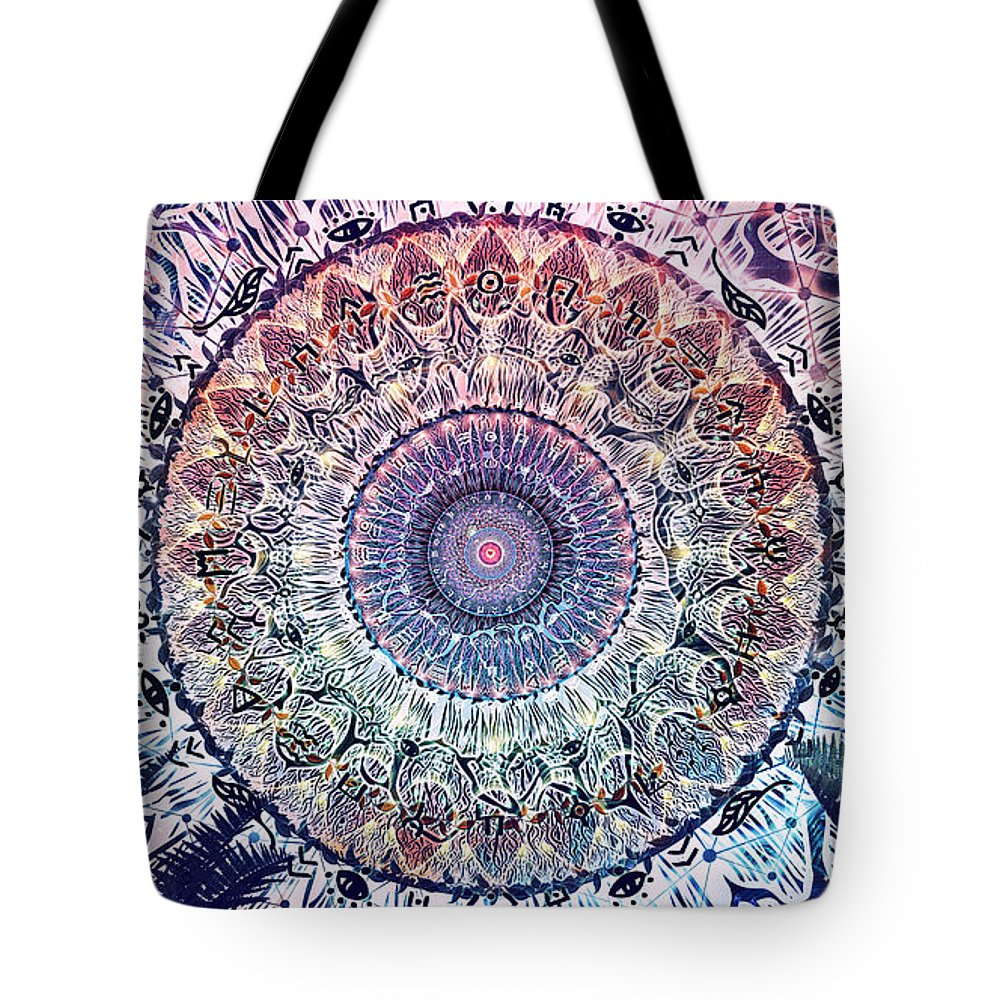 Cameron Gray Tote Bag featuring the digital art Waiting Bliss by Cameron Gray