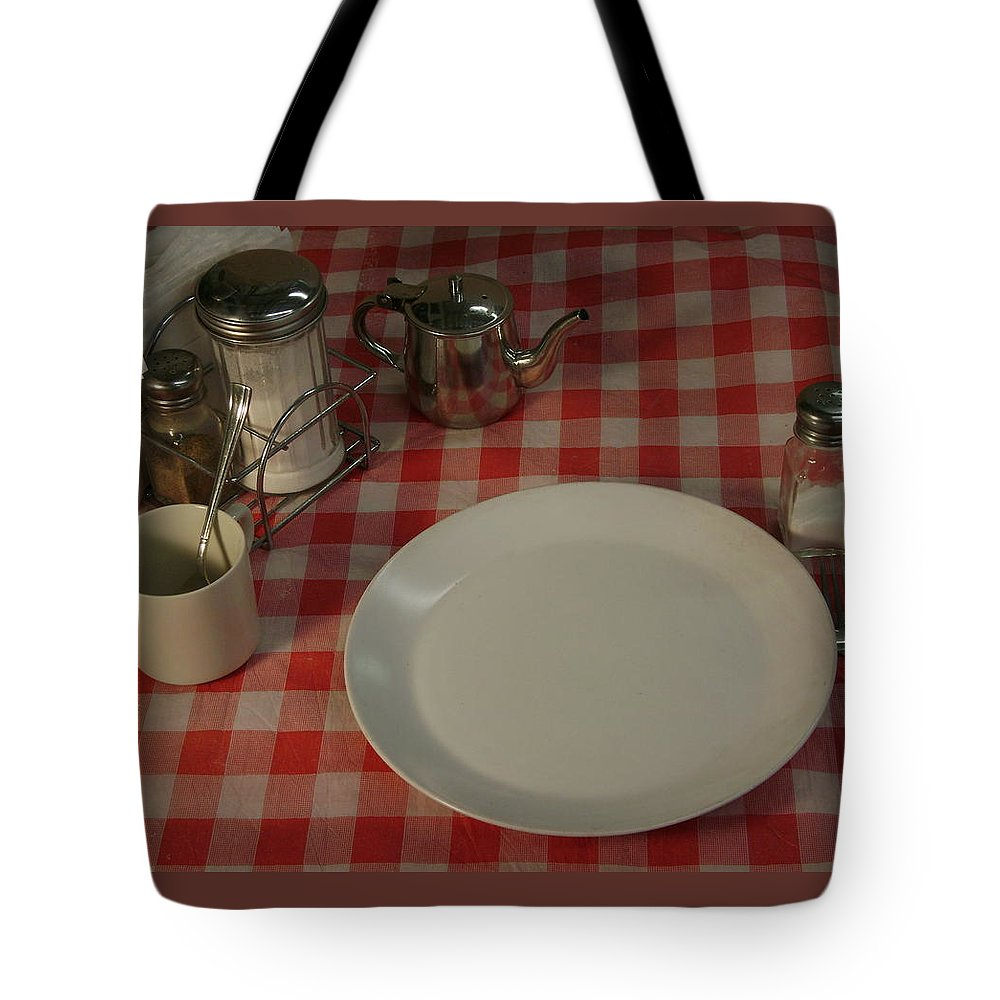 Breakfast Setting Tote Bag featuring the photograph Waiting For Breakfast by Gerry High