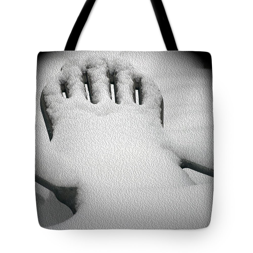 Chair Tote Bag featuring the photograph Waiting For Spring by Crystal Harman