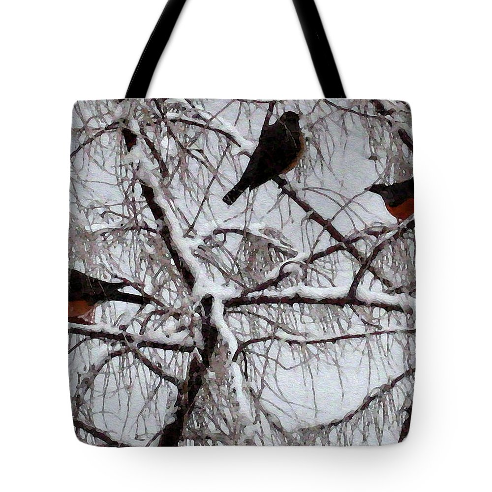Season Tote Bag featuring the photograph Waiting For Spring by Kathy Bassett