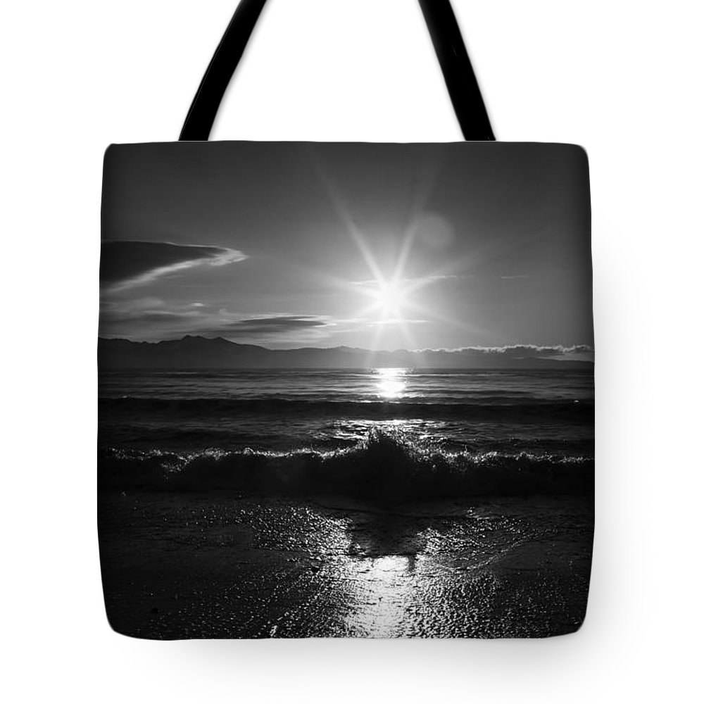 Alaska Tote Bag featuring the photograph Waiting For Sunset by Michele Cornelius