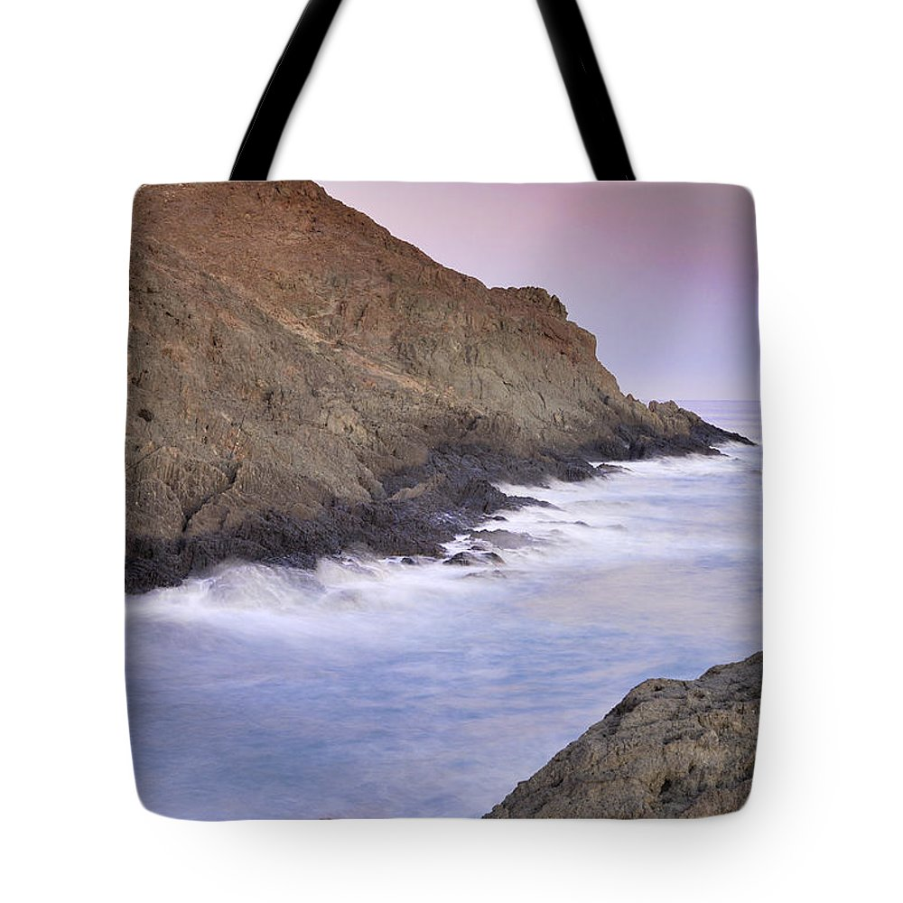 Seascape Tote Bag featuring the photograph Waiting For The Moon by Guido Montanes Castillo