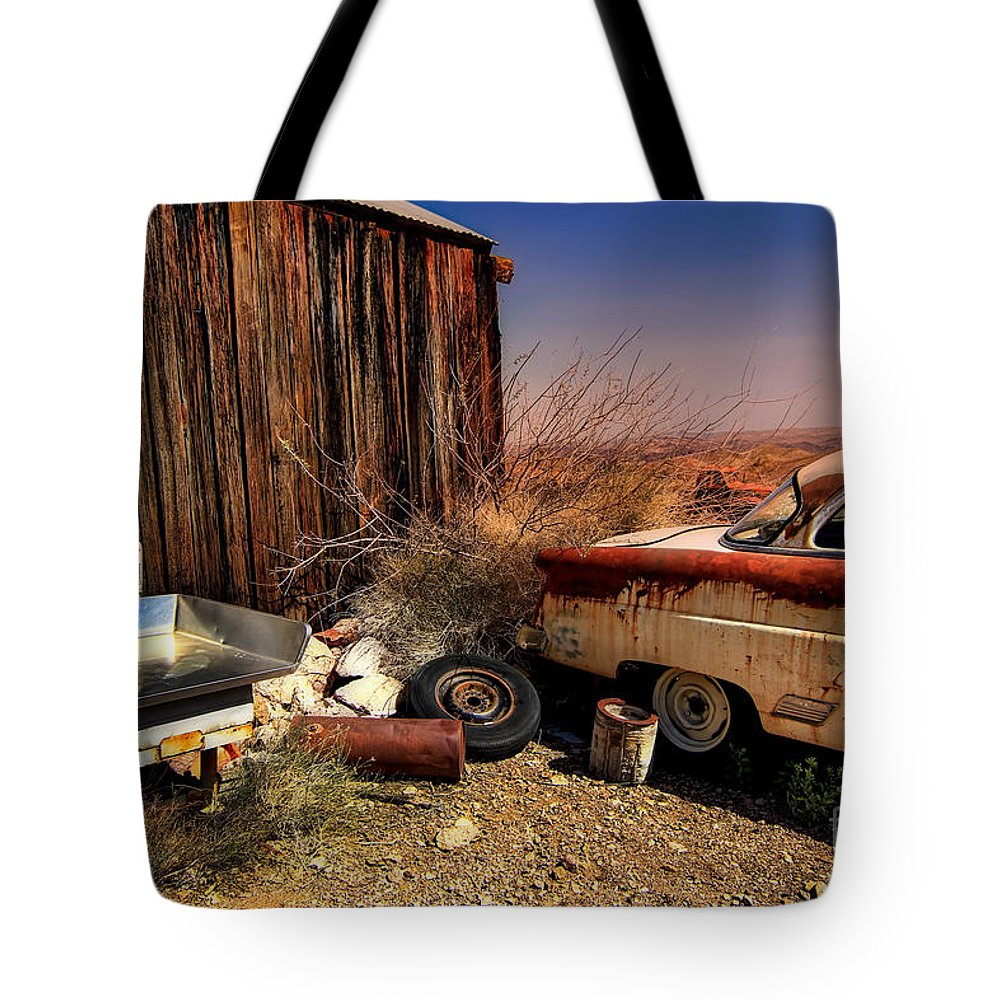 Car Tote Bag featuring the photograph Waiting on a Woman by Brenda Giasson