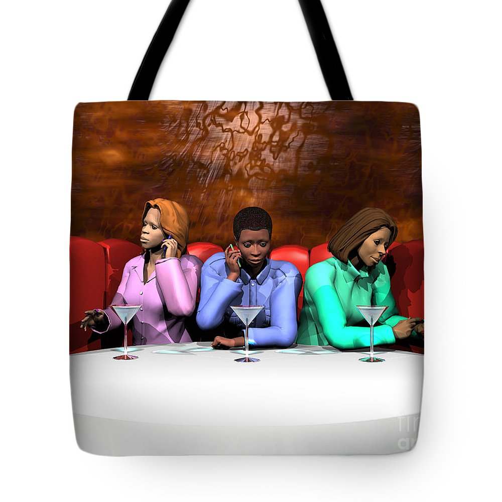 Females Tote Bag featuring the digital art Waiting To Exhale by Walter Oliver Neal