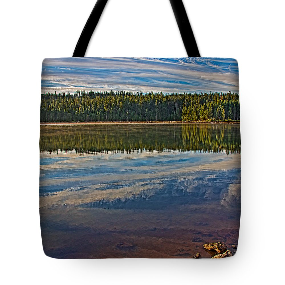 Lake Tote Bag featuring the photograph Wakeful by Britt Runyon