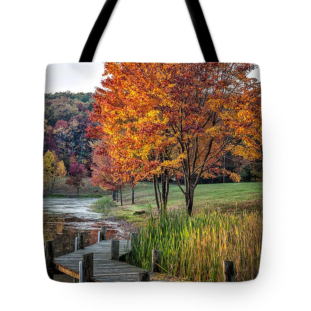 2012 Tote Bag featuring the photograph Walk Into Fall by Ronald Lutz