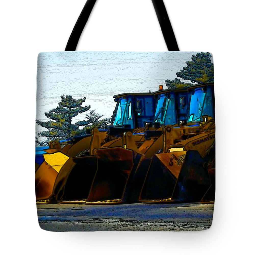 Plows Tote Bag featuring the photograph Walk The Line by Robyn King