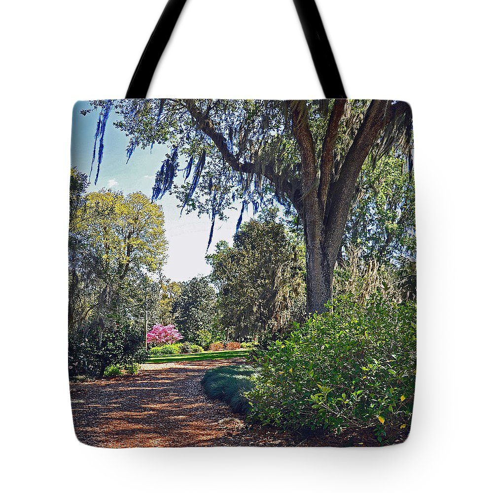 Landscapes Tote Bag featuring the photograph Walking In A Garden by Deborah Good