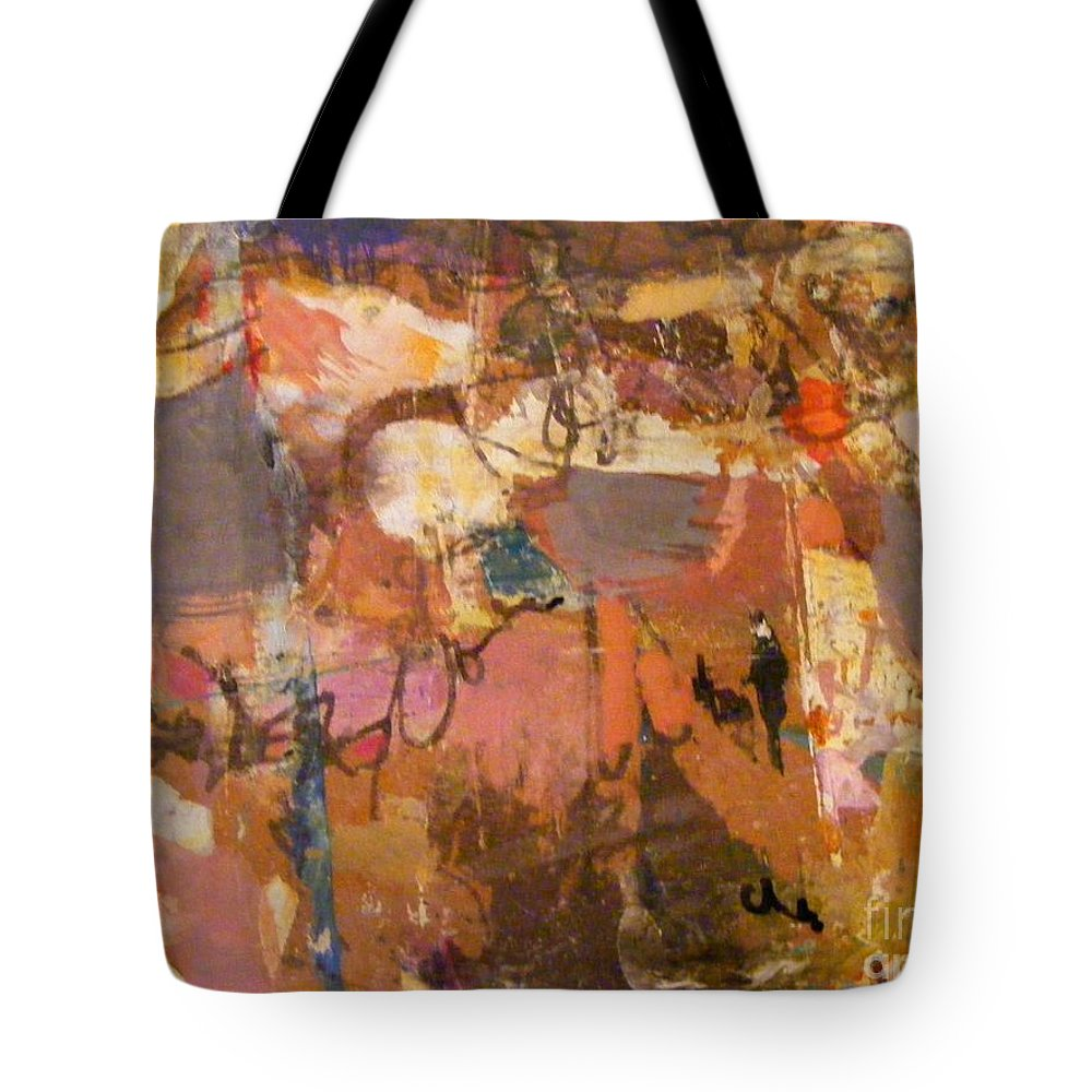 Mixed Media Tote Bag featuring the mixed media Walking The Dog by Nancy Kane Chapman