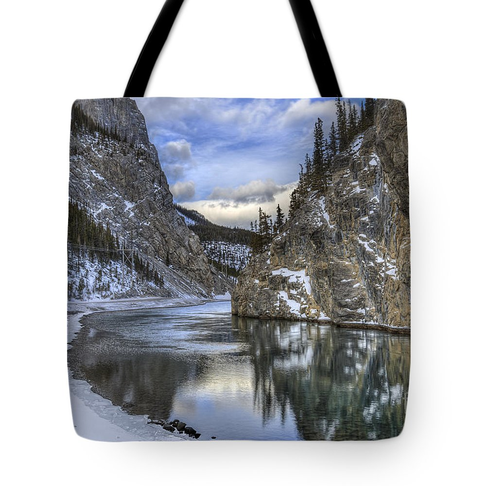 Banff Tote Bag featuring the photograph Walking Through Wonderland by Evelina Kremsdorf