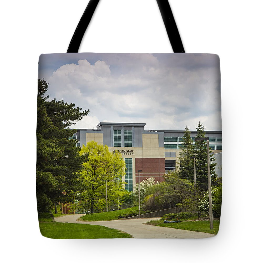 Michigan State Tote Bag featuring the photograph Walkway To Spartan Stadium by John McGraw