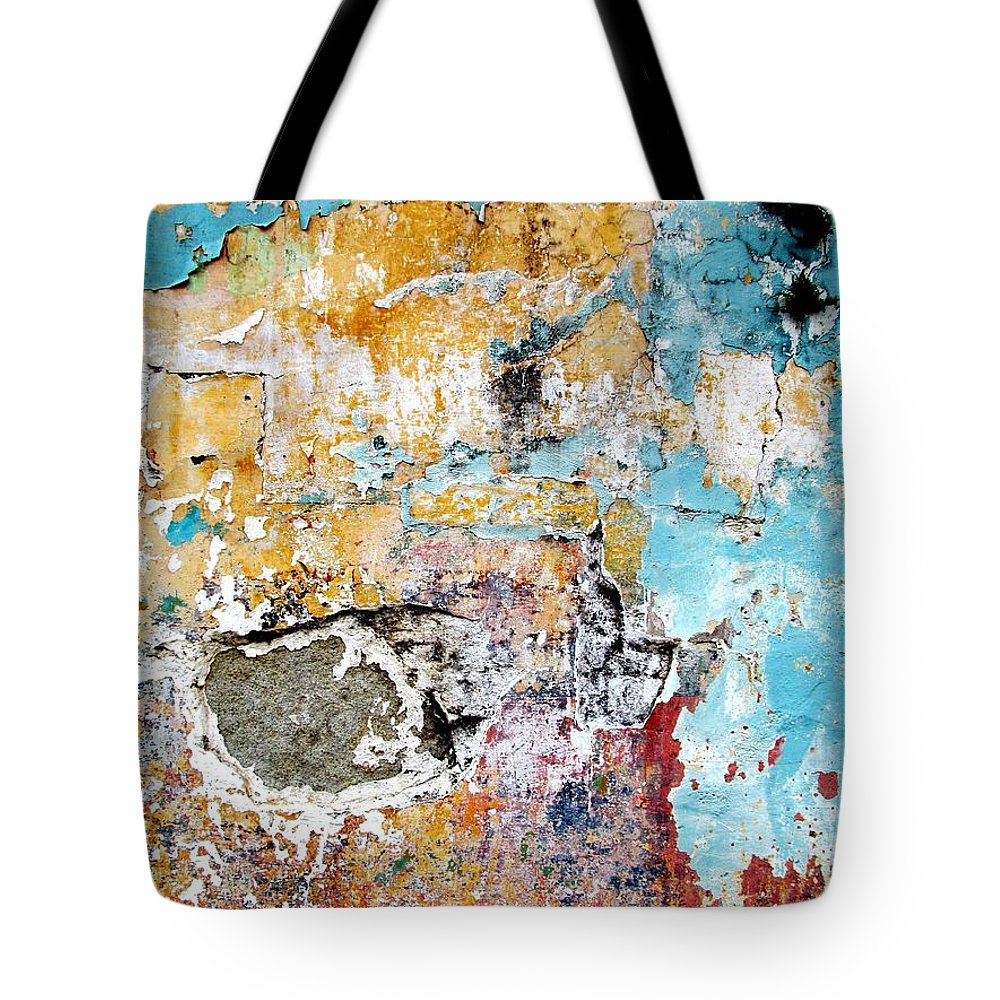Texture Tote Bag featuring the digital art Wall Abstract 124 by Maria Huntley