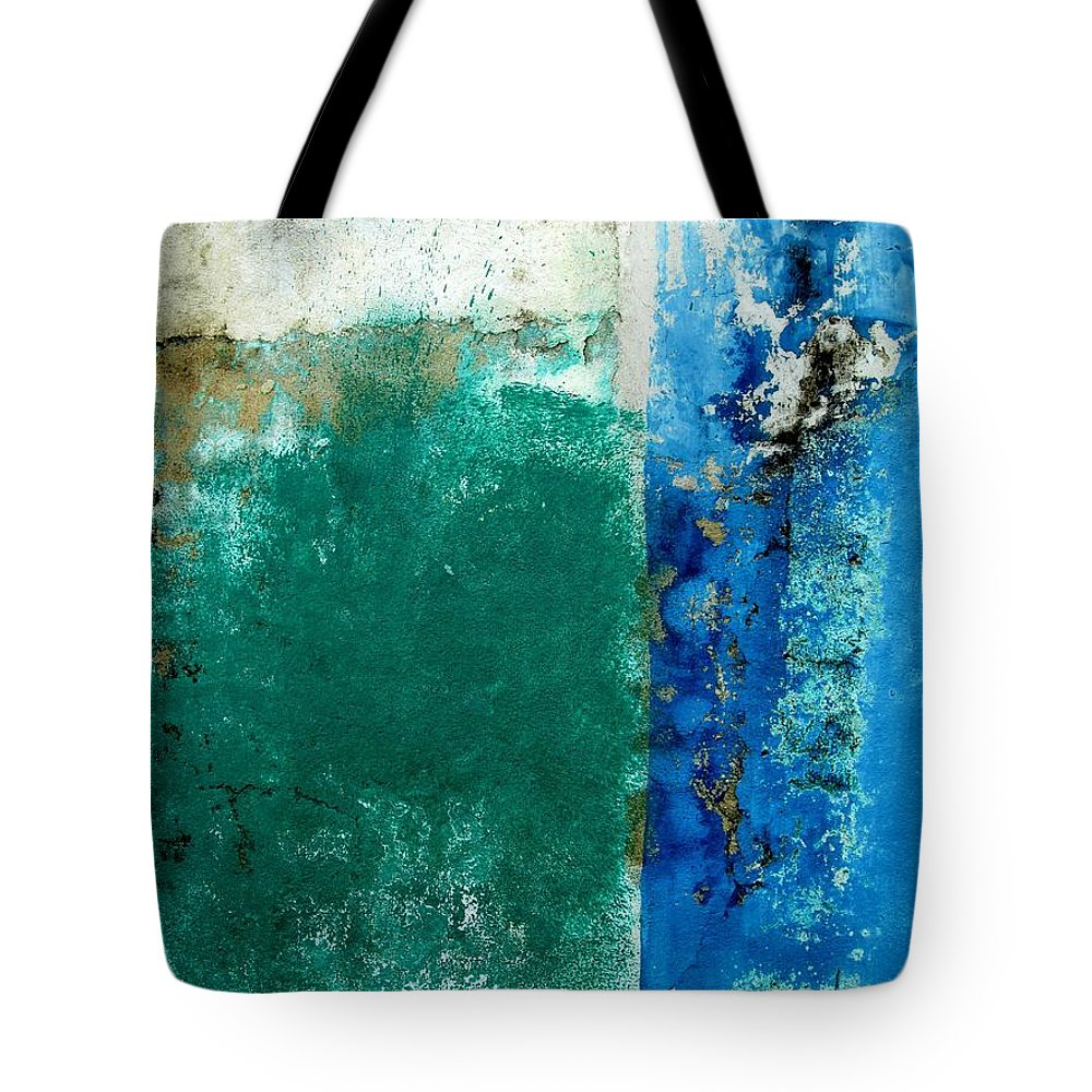 Texture Tote Bag featuring the digital art Wall Abstract 159 by Maria Huntley