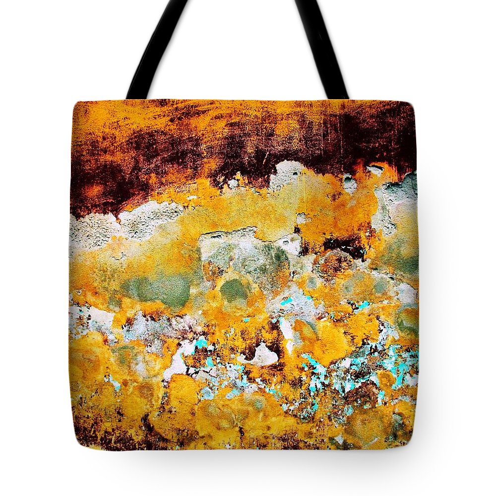 Texture Tote Bag featuring the digital art Wall Abstract 28 by Maria Huntley