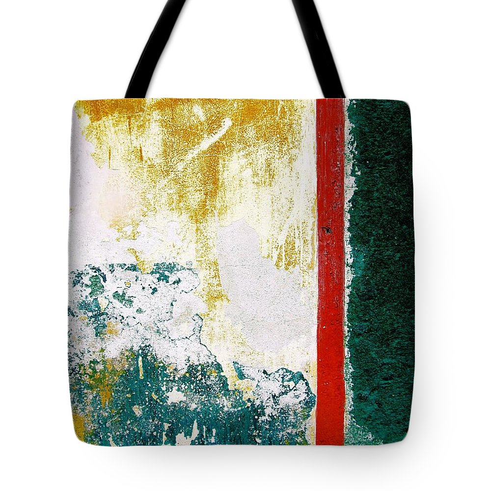 Texture Tote Bag featuring the digital art Wall Abstract 71 by Maria Huntley