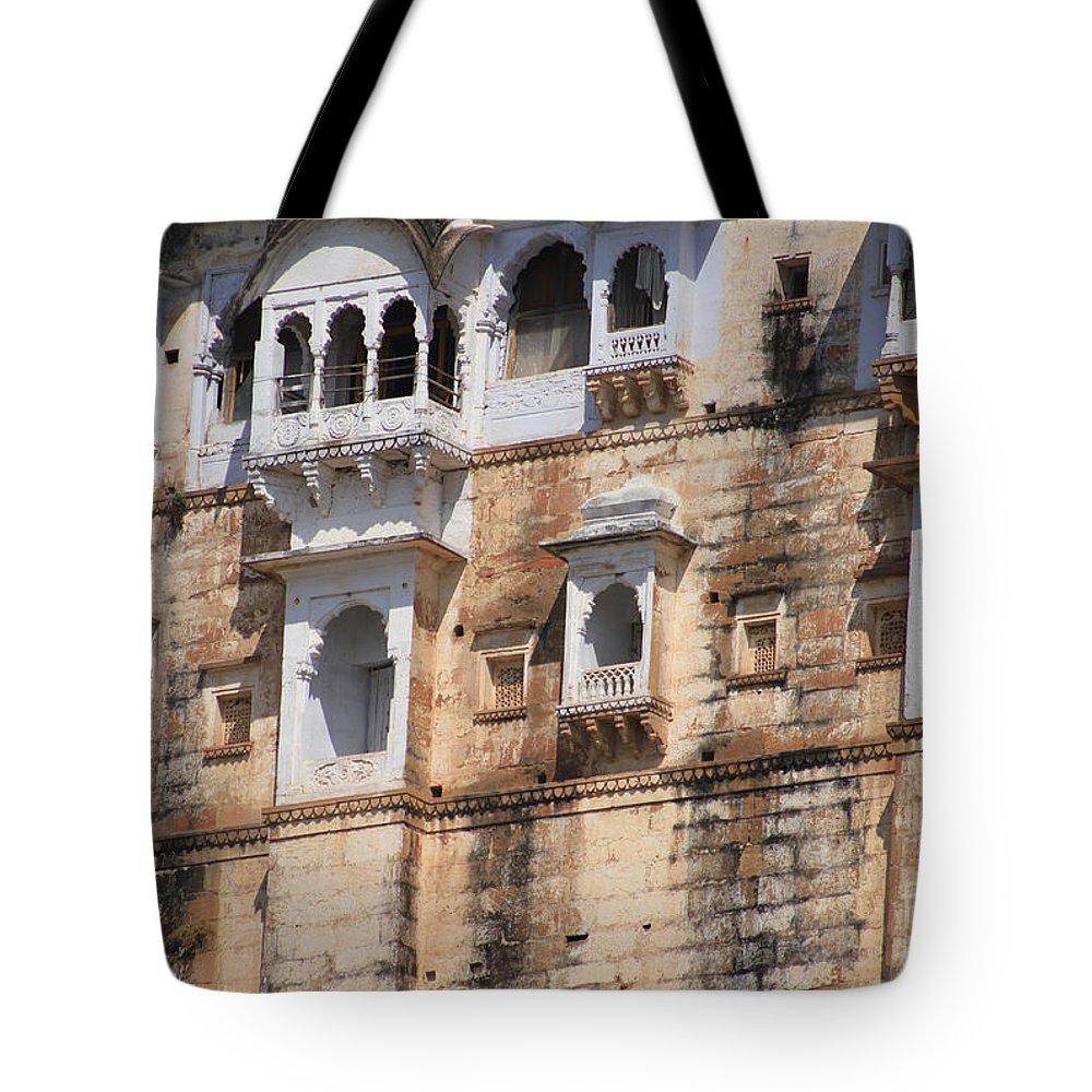 Sadhu Tote Bag featuring the photograph Wall Of Windows by Four Hands Art