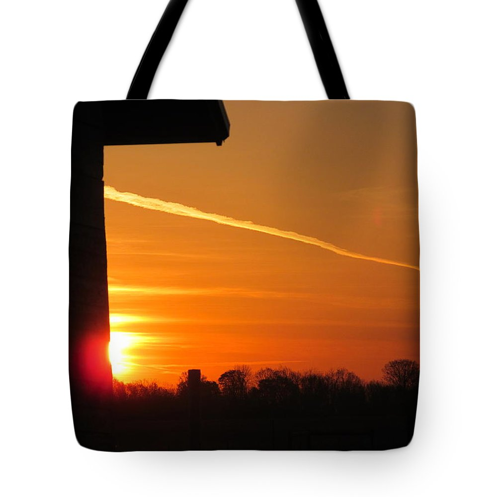Sun Tote Bag featuring the photograph Wall Sunrise by Tina M Wenger