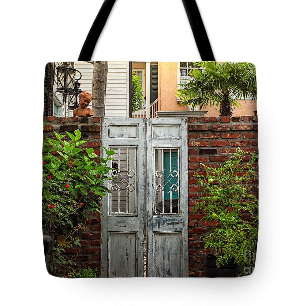 Garden Tote Bag featuring the photograph Walled Garden by Mary Smyth