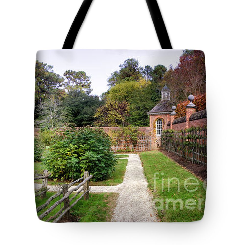 Garden Tote Bag featuring the photograph Walled Garden by Shari Nees