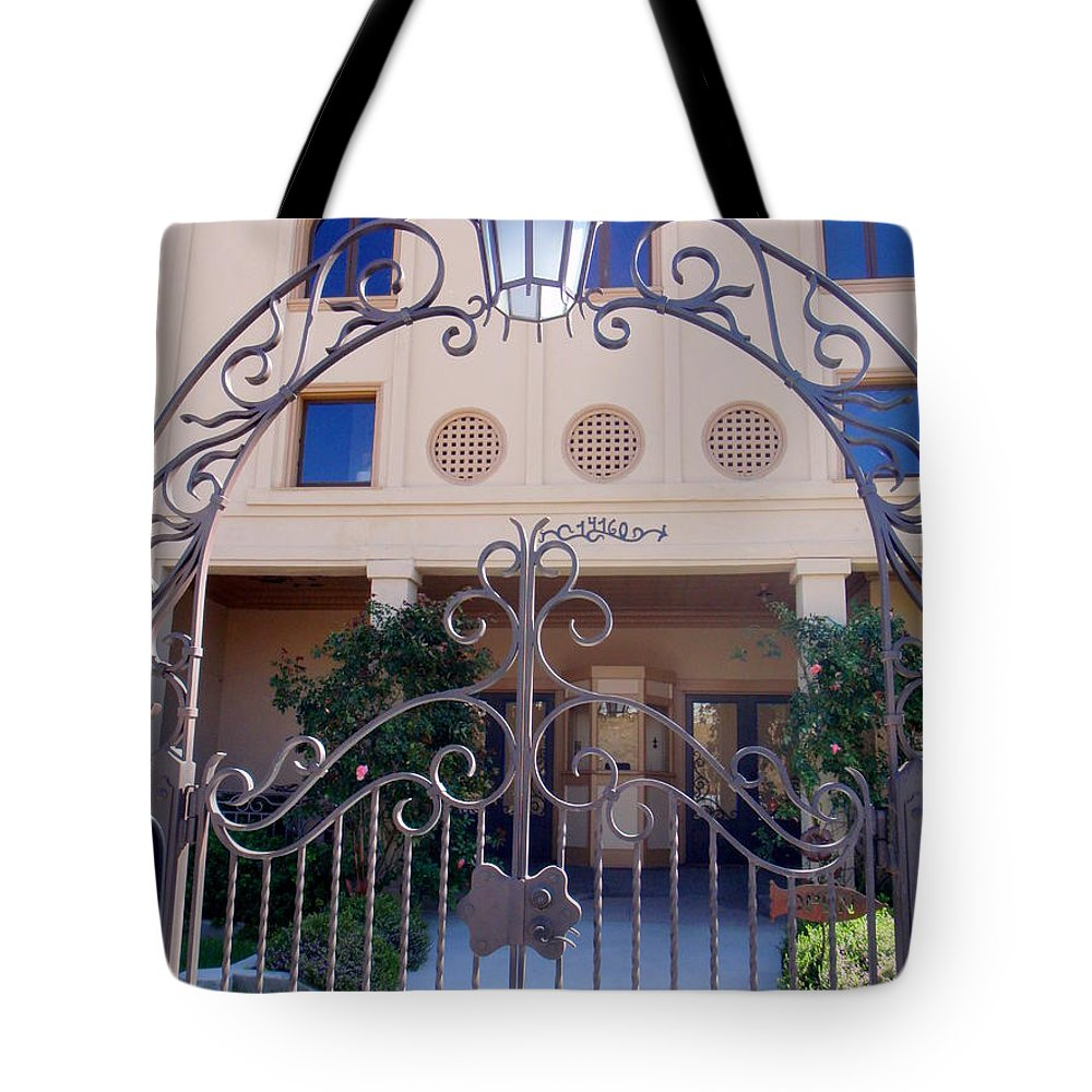 Walnut Grove Tote Bag featuring the photograph Walnut Grove Theater by Mary Deal