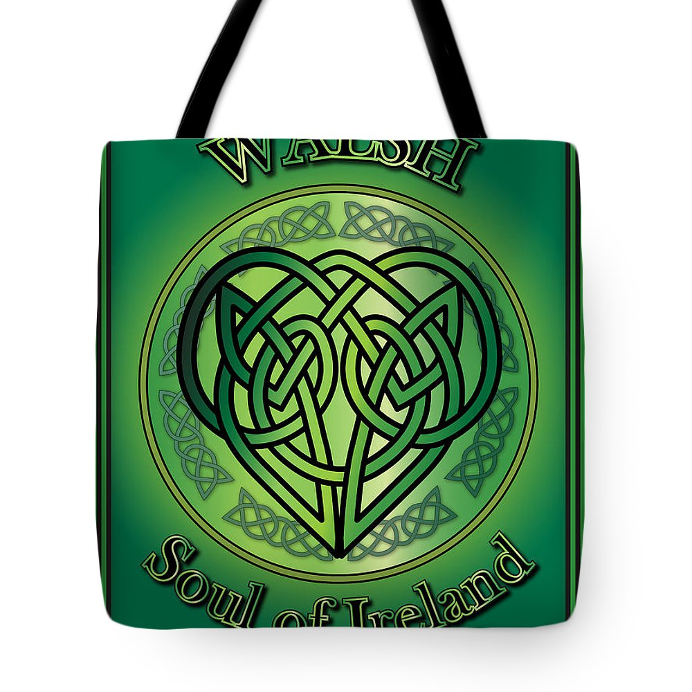 Walsh Tote Bag featuring the digital art Walsh Soul Of Ireland by Ireland Calling