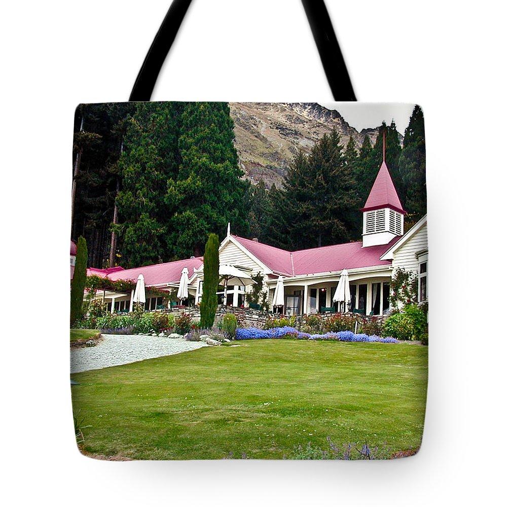Walter Tote Bag featuring the photograph Walter Peak Farm New Zealand by Douglas Barnett