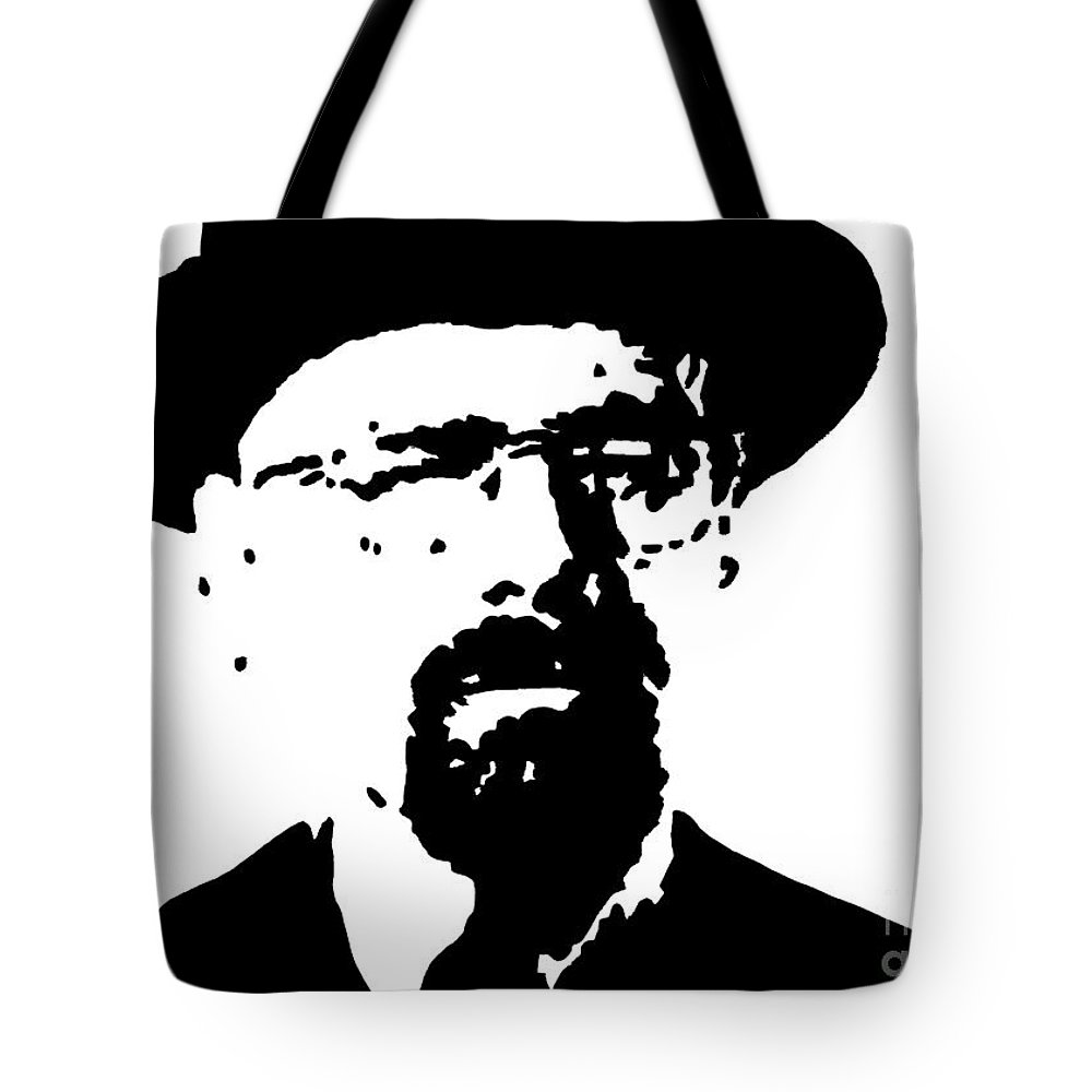 Walter White Tote Bag featuring the painting Walter White by John Halliday
