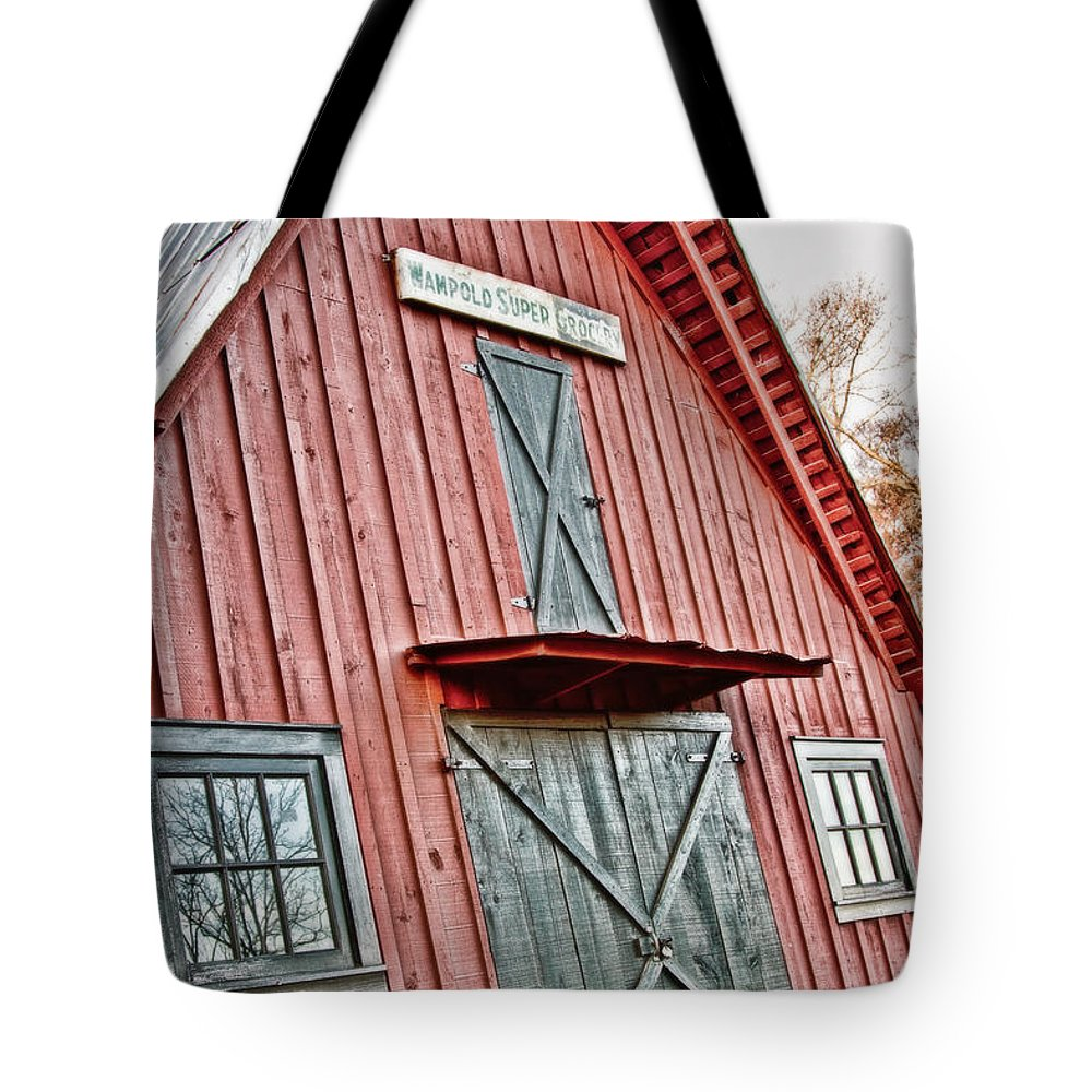 Barn Tote Bag featuring the photograph Wampold Grocery by Scott Pellegrin