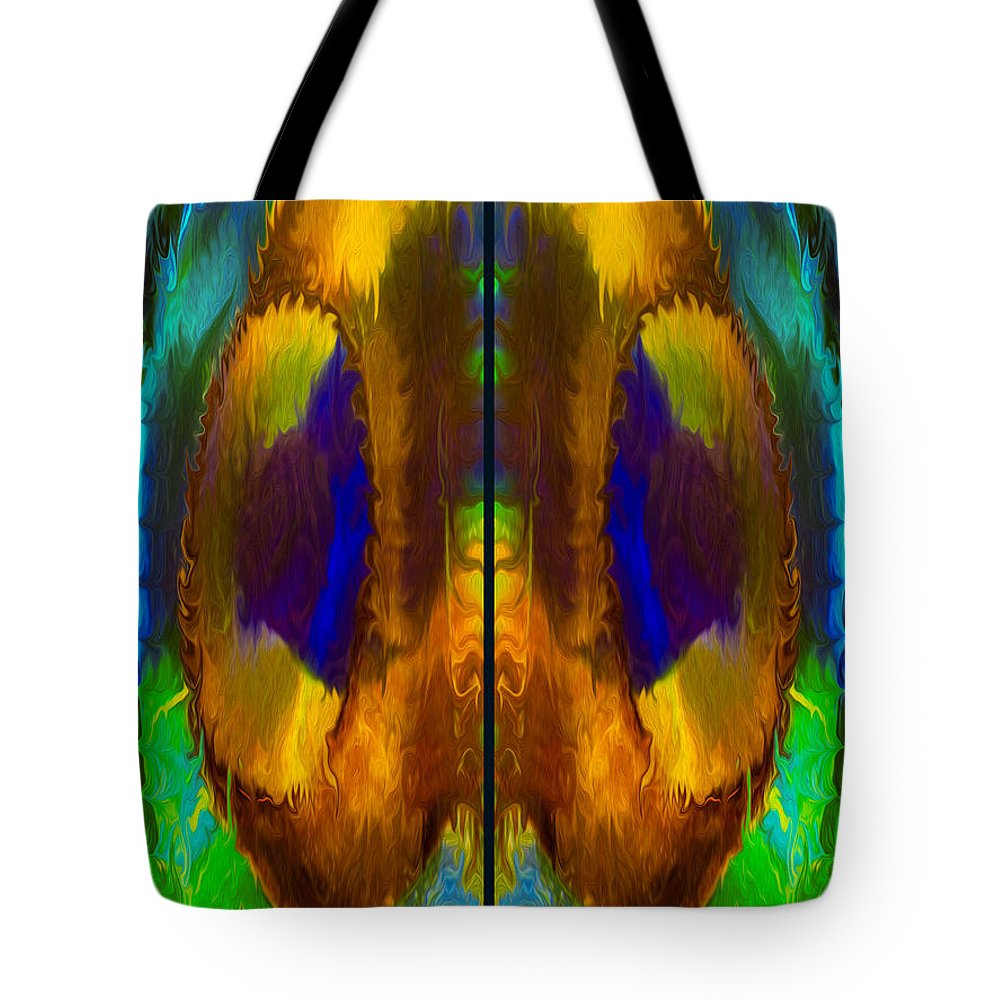 Georgia Okeefe Tote Bag featuring the painting Wandering Eyes by Omaste Witkowski