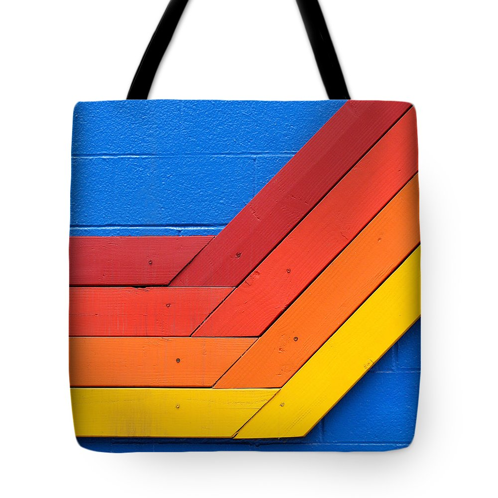 Venice Beach Tote Bag featuring the photograph Warm On Cool by Art Block Collections