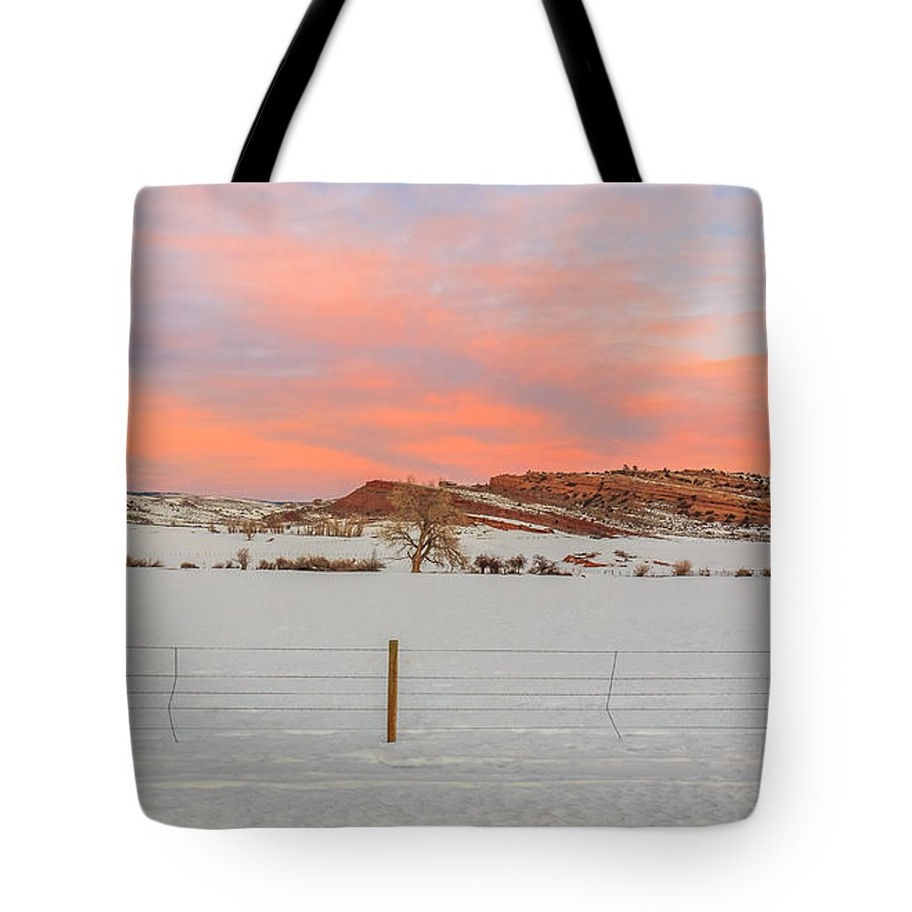 Gigimarie Tote Bag featuring the photograph Warm Winter Morning by Gina Herbert