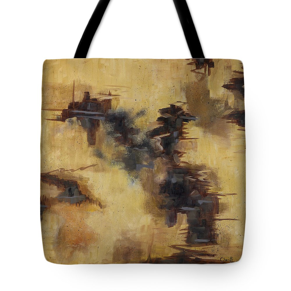 Abstract Tote Bag featuring the painting Warmth by Christie Michael