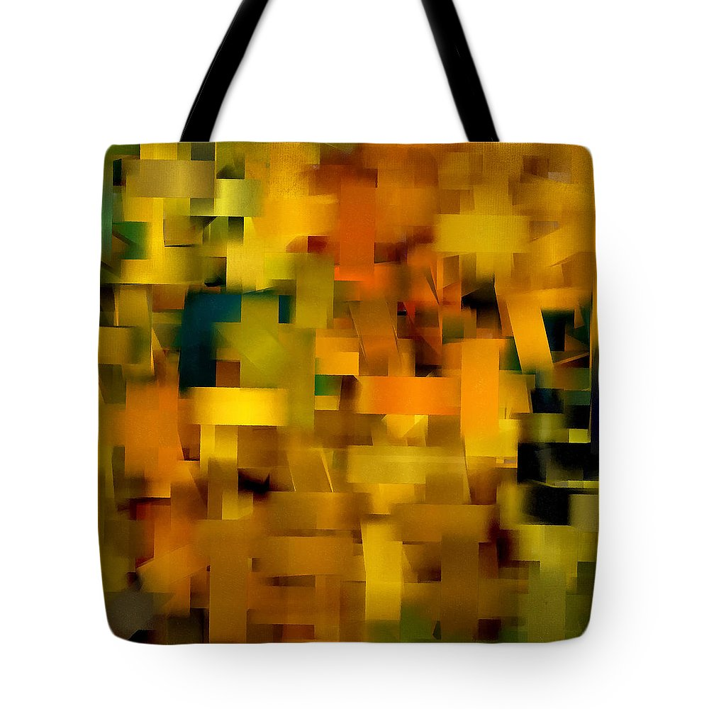 Squares Tote Bag featuring the digital art Warmth Essence by Lourry Legarde