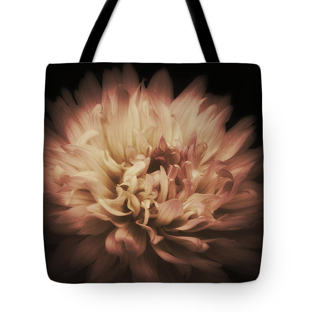 Dahlia Tote Bag featuring the photograph Warmth Of A Dahlia by Tammy Garner
