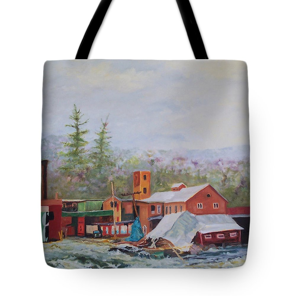 Flood Tote Bag featuring the painting Washed Away by Alicia Drakiotes