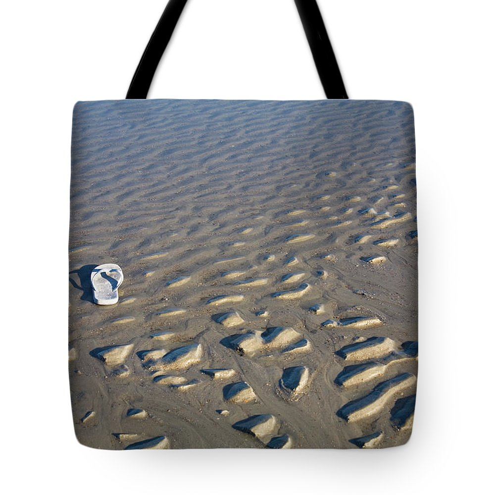 Sandal Tote Bag featuring the photograph Washed Up On A Florida Beach by Diane Macdonald
