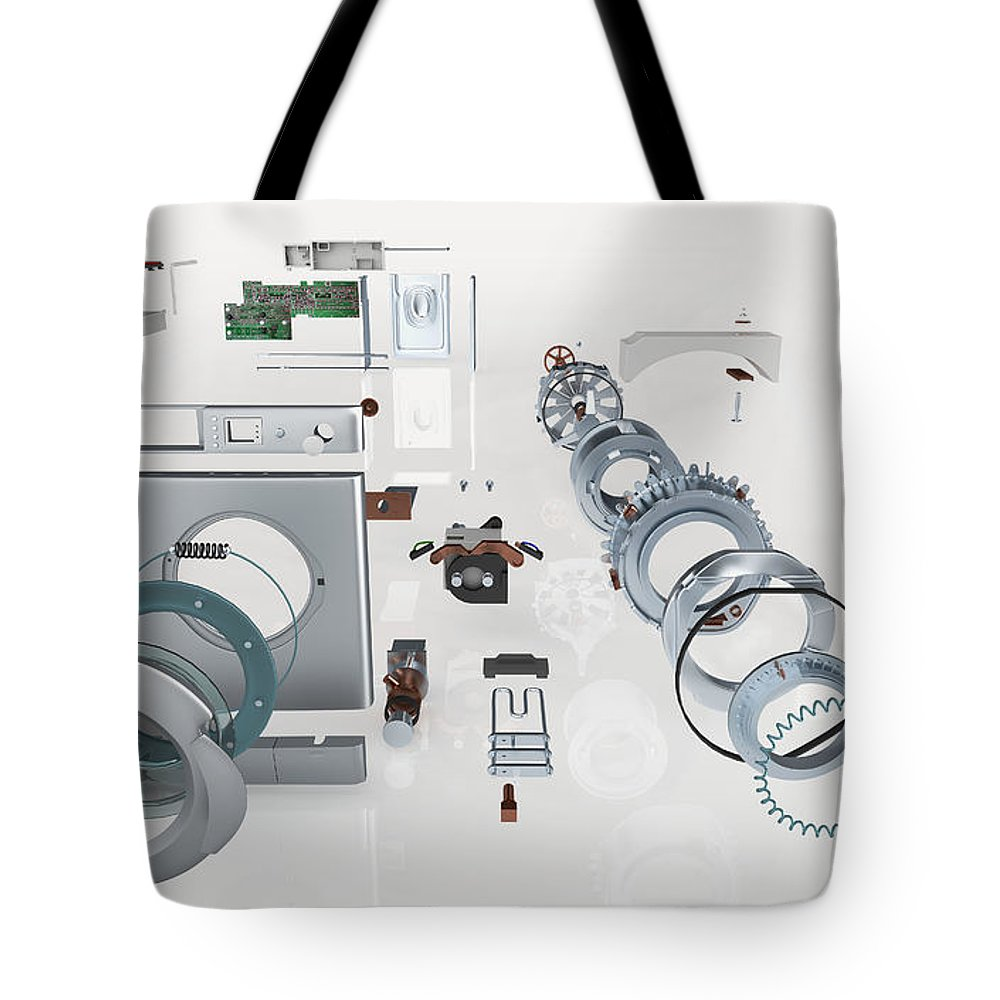 Washing Machine, Exploded View Tote Bag